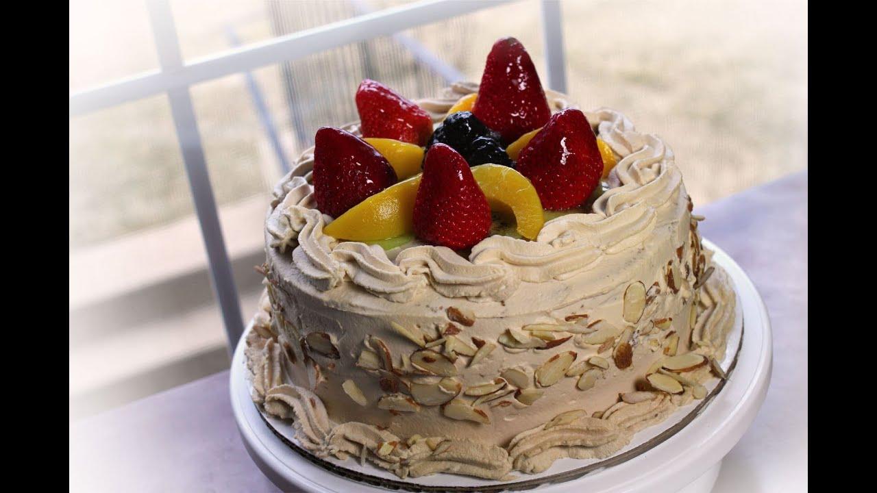 咖啡生日蛋糕fruit Top Coffee Birthday Cake For My Friend S Bday
