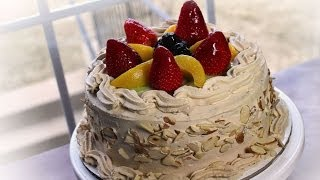 咖啡生日蛋糕Fruit Top Coffee Birthday Cake for my friend's bday :)