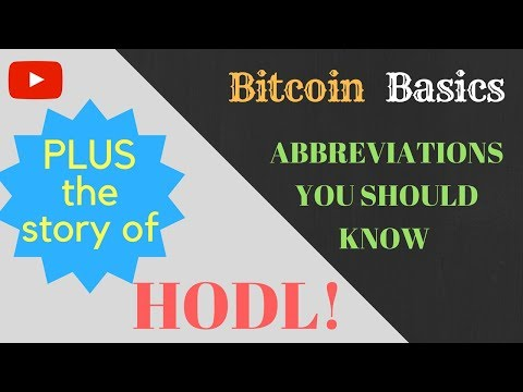 What Is HODL? | Our Take, PLUS 5 Crypto Acronyms To Know | Bitcoin Basics