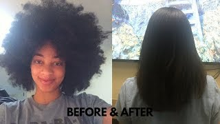 natural hair to straight hair no chemicals 3 years natural