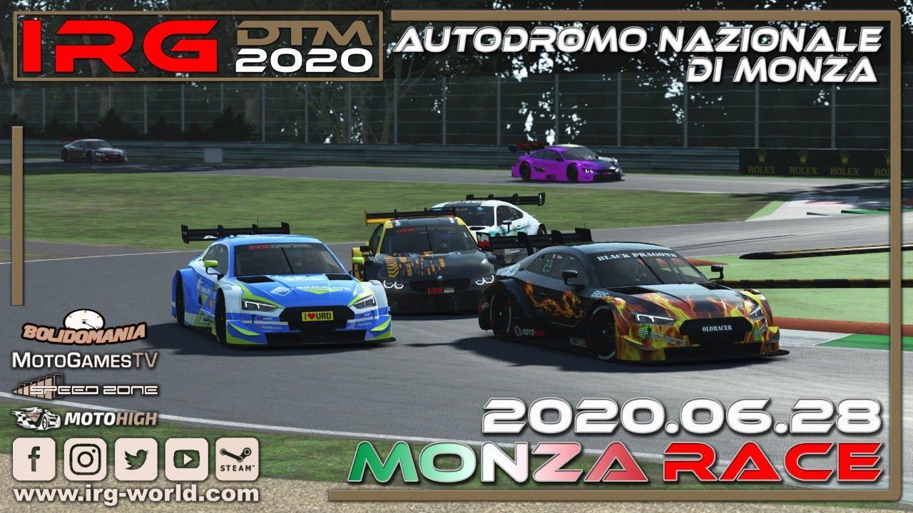 IRG DTM 2020 - Round 5 - Monza Race - Livestream - YouTube