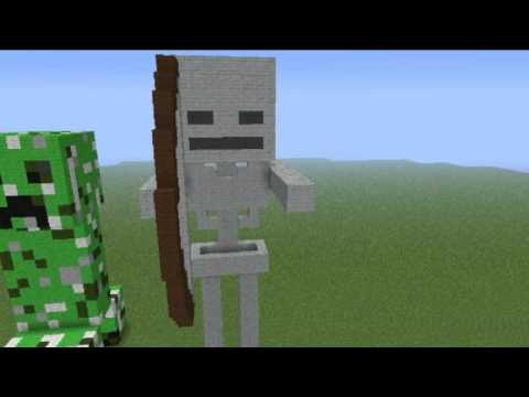 esculturas Épicas 12 esqueleto minecraft youtube