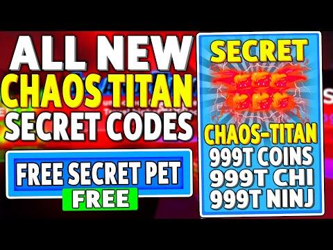 ALL NEW *SECRET CHAOS LEGEND PET* UPDATE CODES in NINJA LEGENDS (ROBLOX CODES)