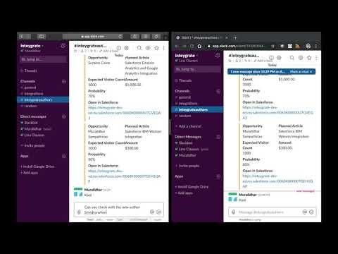 Slack Salesforce Integration Using Slash Commands