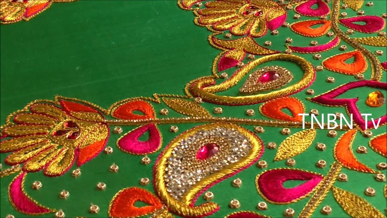 Simple maggam work blouse designs aari embroidery
