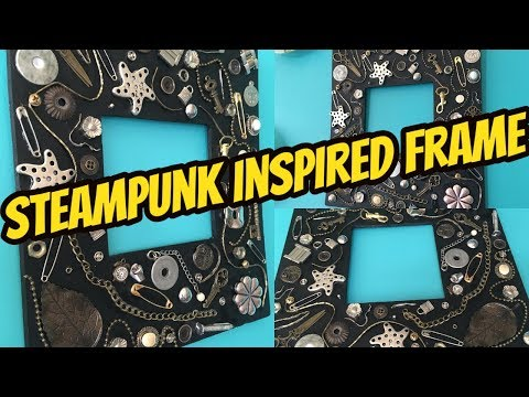 DIY - Steampunk Inspired Wall Decor (upcycle metal junk into chic Wall Accent)!!