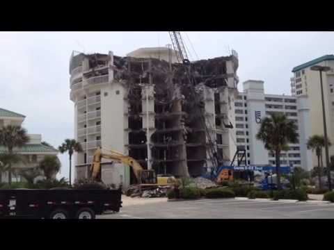 Destin Holiday Inn Demolition Youtube