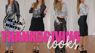 THANKSGIVING OUTFITS B&W | GABY ESPINO TV