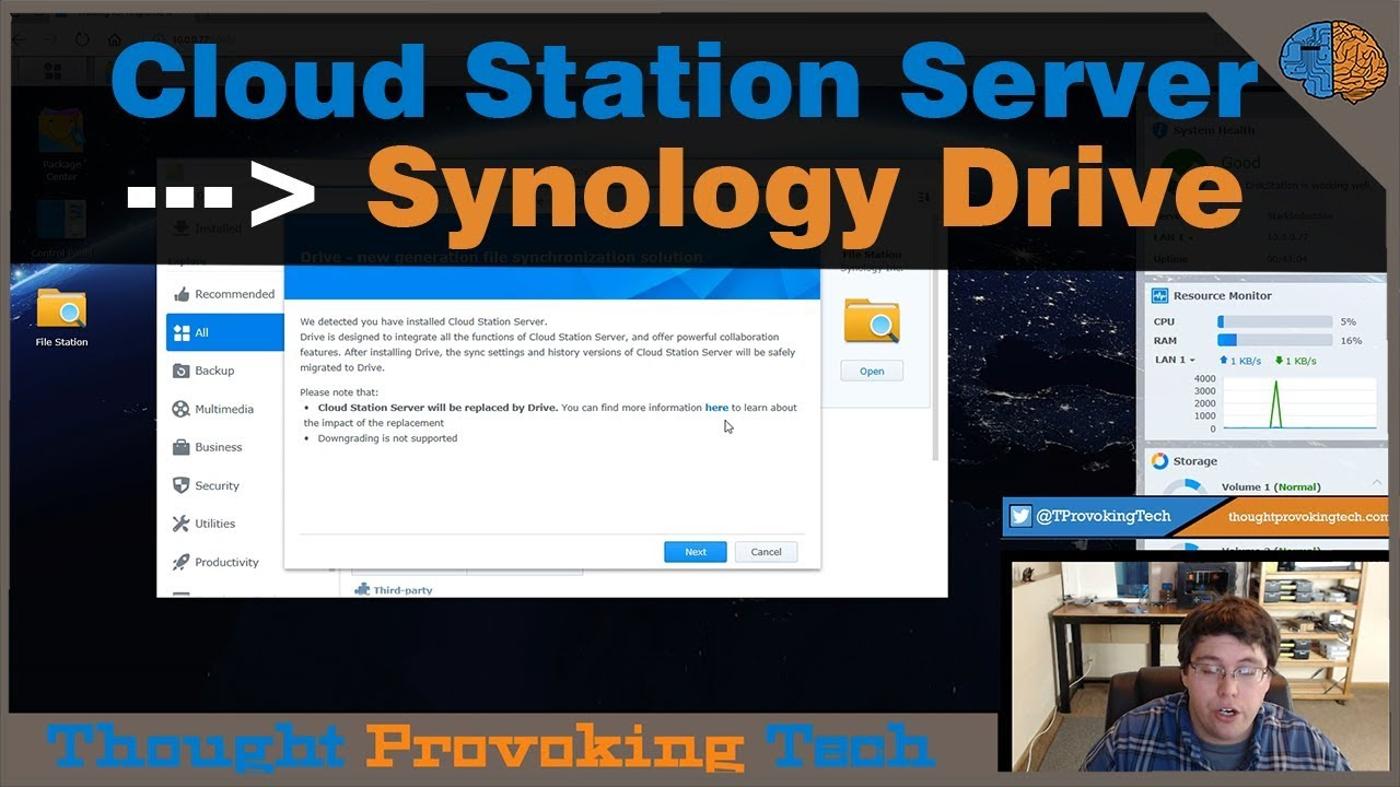 Upgrade Cloud Station Server to Synology Drive