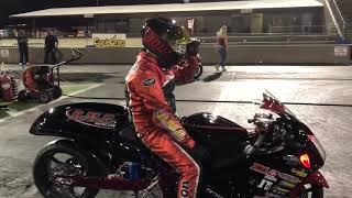 180 MPH CRASH IN THE DARK! NITROUS HAYABUSA REAL STREET DRAG BIKE MOTORCYCLE RACER OFF AT TOP SPEED!