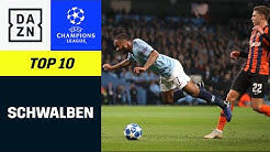 Top 10 Schwalben | UEFA Champions League | DAZN Highlights