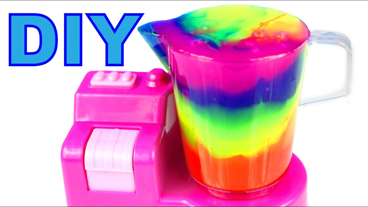 Diy How To Make Slime Clay Cocktail Mighty Toys Blender