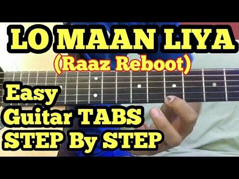 Lo Maan Liya Guitar Tabs/intro/Lead Lesson | Arijit Singh | Emraan Hashmi | Raaz Reboot