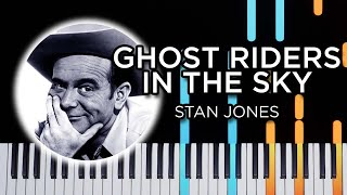 Ghost Riders In The Sky - Piano tutorial