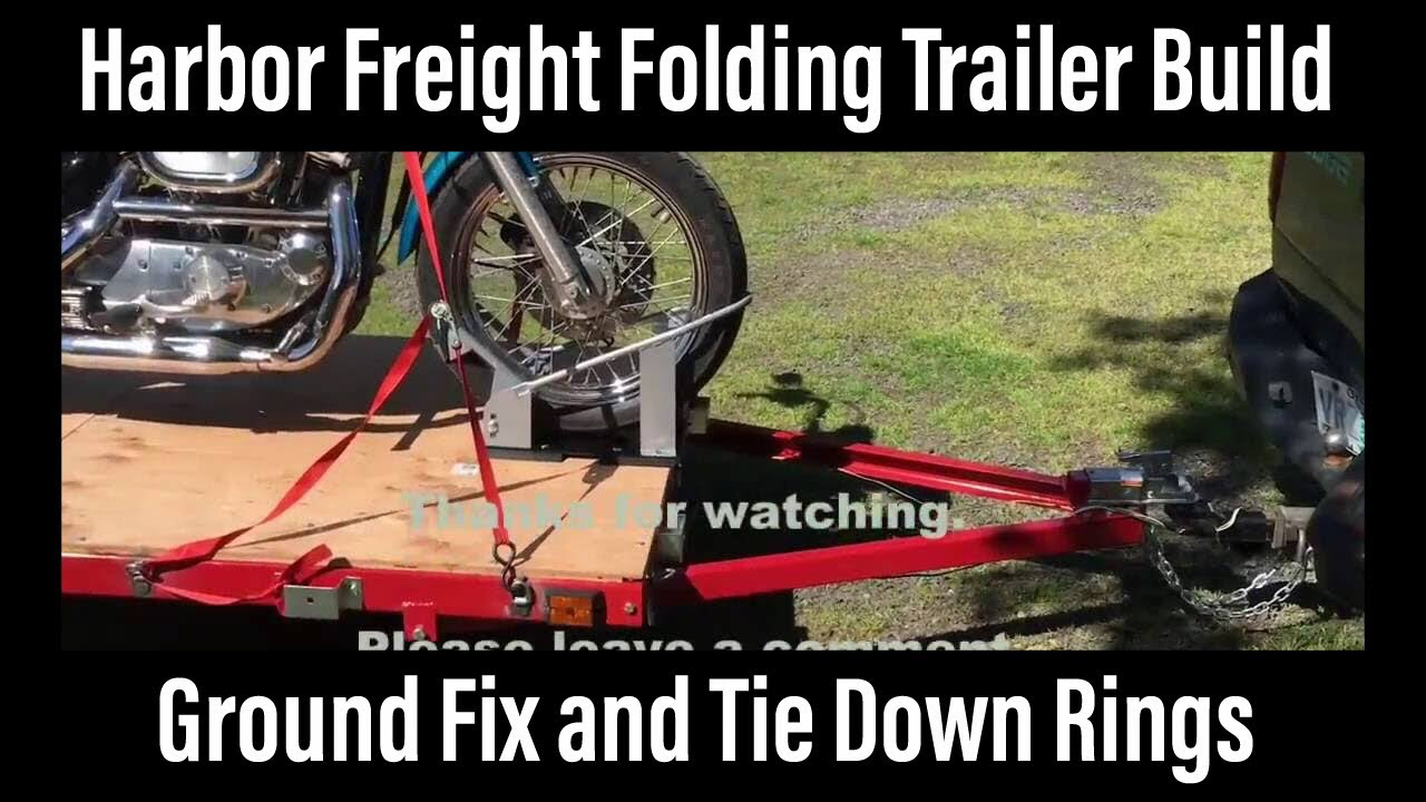 Harbor Freight Folding Trailer Build