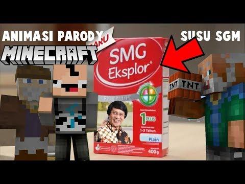 Parody Animasi Minecraft Iklan Susu SGM | Gundol, Pak Tua, Anto dan Kak Seto