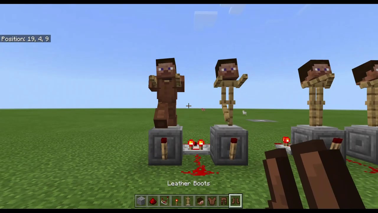 Minecraft Automatic Dancers! Dancing armor stands in Minecraft