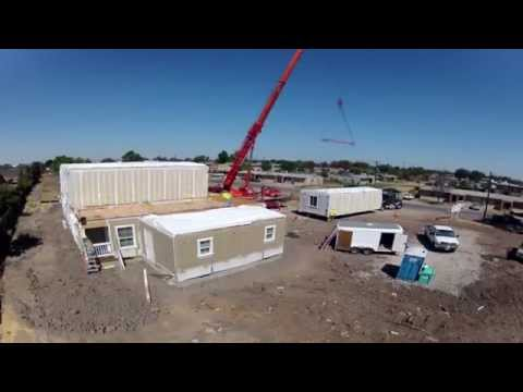 Modular Homes – Fourplex Assembly shot w/GoPro