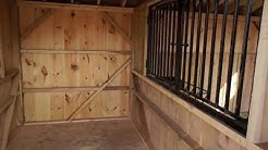 12'x26' Two Stall Horse Barn W/Tack Room (2010)