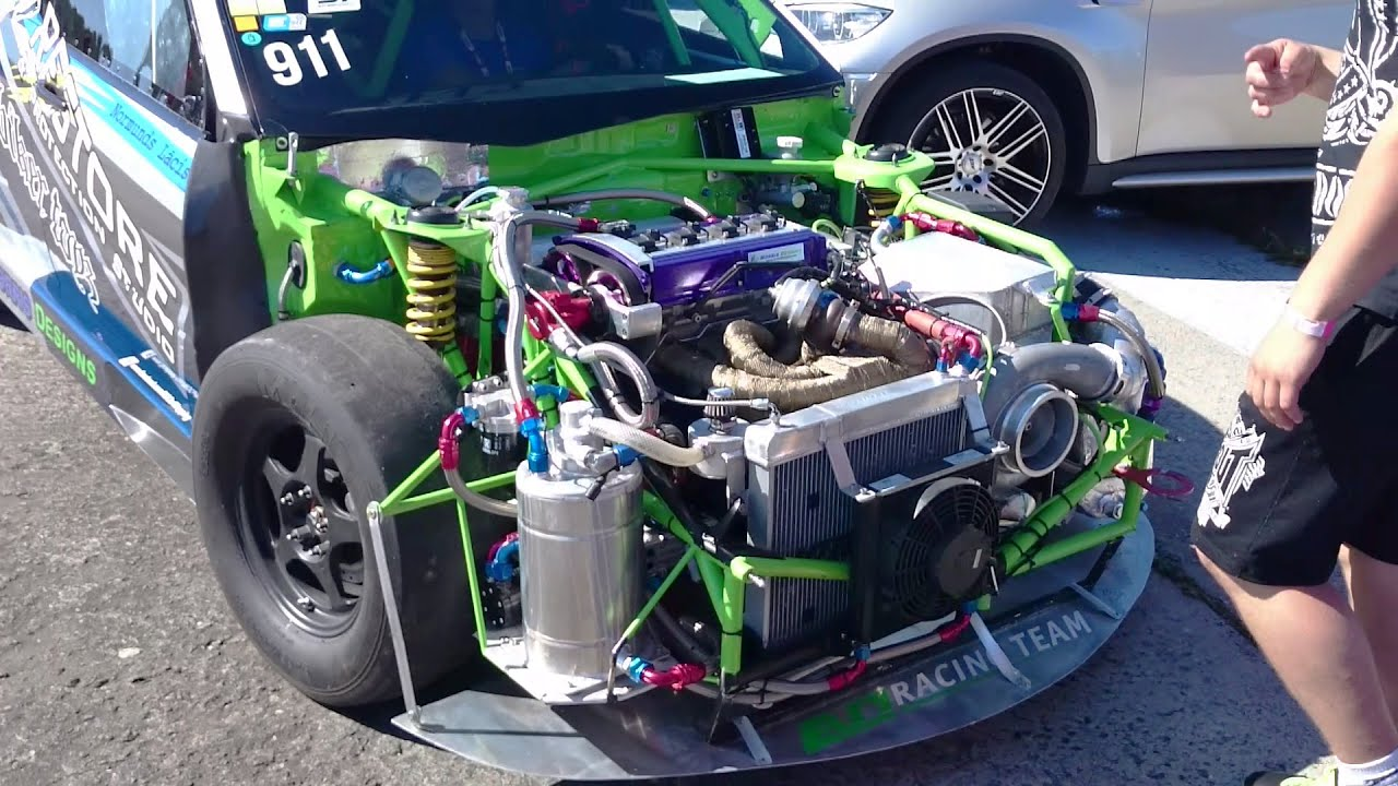 Europes fastest Mitsubishi Evo IX  14mile 1200HP 4G63 engine