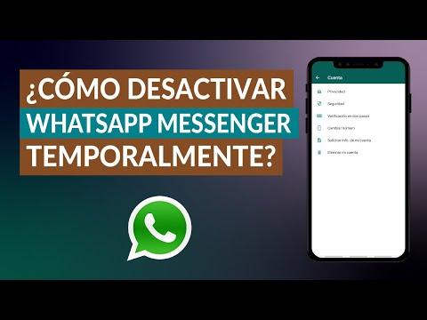 ¿Cómo Desactivar WhatsApp Messenger Temporalmente para Dejar de Usarlo por un Tiempo?