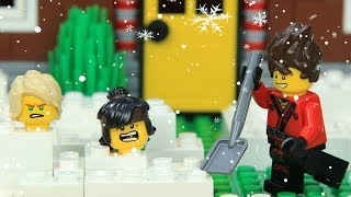 Lego NinjaGo Snowball Fight on Snowfall
