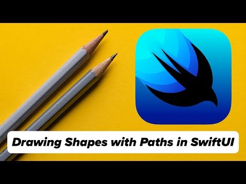 SwiftUI Drawing Tutorial - Draw Shapes in Swift with Path, addLine, CGPoint, LinearGradient. (2019) thumbnail
