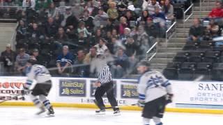 USHL Lincoln Stars Mike McKee boards Force Dominic Toninato