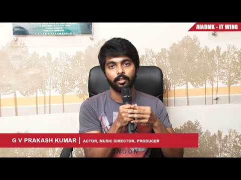 Musician,Actor G.V. Prakash speaks about Tamil Nadu Global Investment Meet | AIADMK