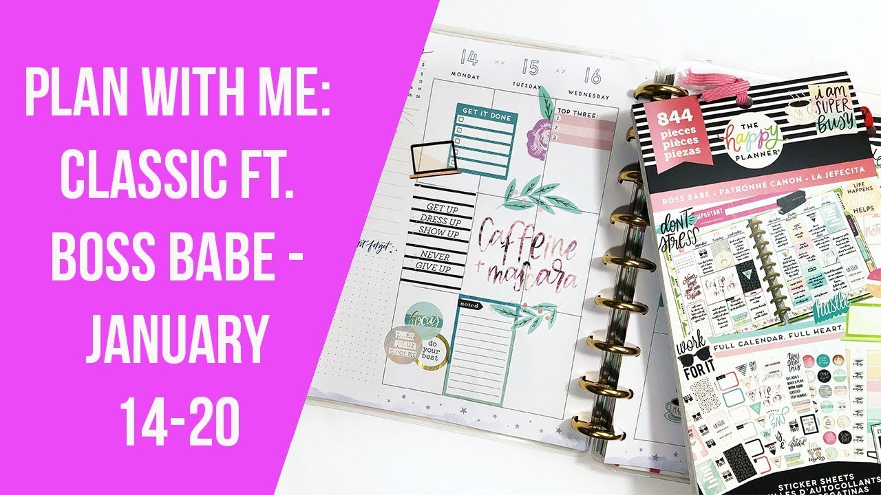 Plan With Me Classic Planner Ft Boss Babe January 14 20 2019