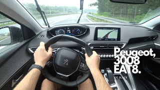 Peugeot 3008 1,5 BlueHDi 130 HP EAT8 | 4K POV Test Drive #106 Joe Black