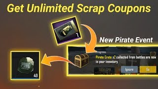 Get Free Unlimited Scrap Coupons on Pubg