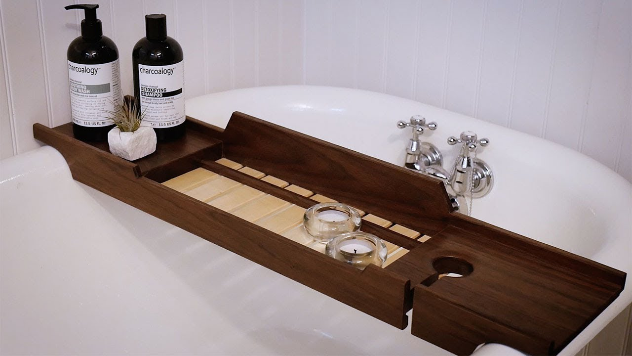 Bathtub Tray DIY Build - YouTube
