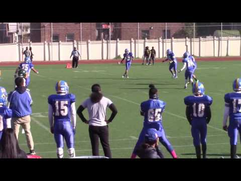 NYC PSAL Football 2016 Game 9 Alfred E Smith Warriors v William Cullen Bryant Owls