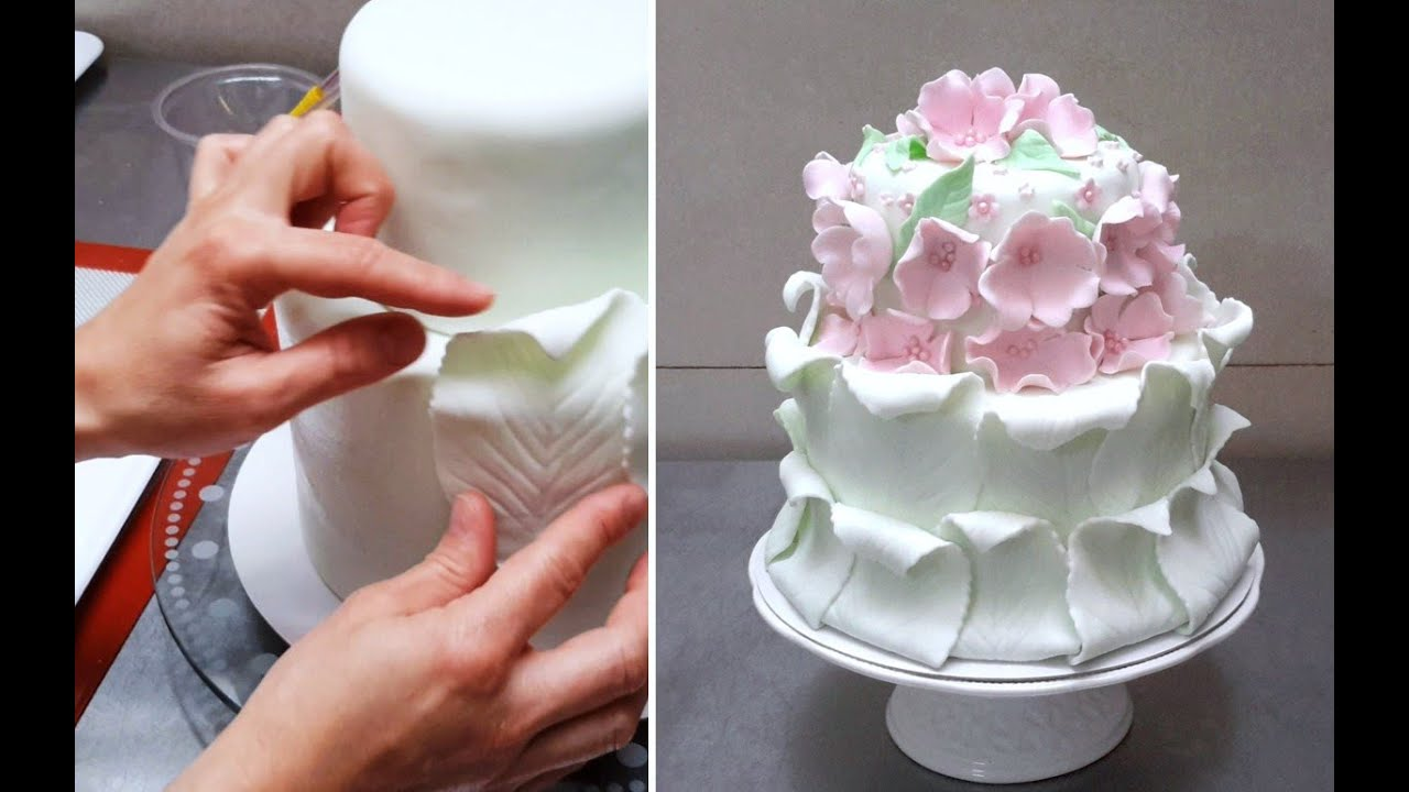 Decorate Cake With Fondant Flowers : Simple Fondant Cake Decorating Tutorial Decorar con ...