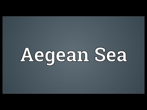 Aegean Sea Meaning