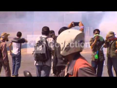 THAILAND ANTI-GOVERNMENT PROTESTS - TEAR GAS