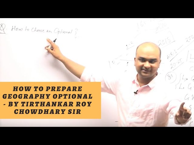 How to prepare Geography Optional for UPSC/IAS Exam/Geography Optional by T. Roychowdhary  EDEN IAS
