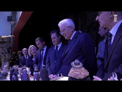 Mattarella inaugura Il presepe della Basilicata nel Palazzo del Quirinale