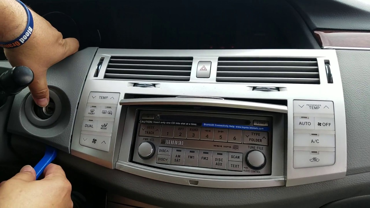 how to remove radio cd changer from toyota avalon year 2009 for repair  [ 1280 x 720 Pixel ]