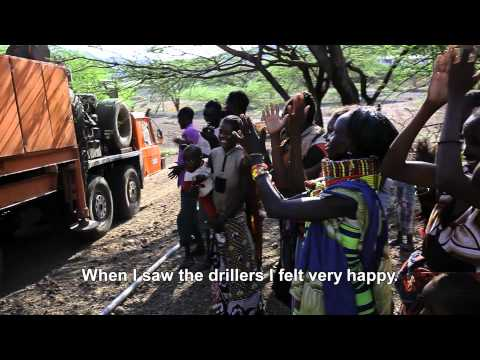 Drilling for drinking water in northern Kenya