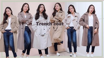 Best trench coat ever! / 가을맞이 10만원 이하 가성비 트렌치코트 총정리(ft. 트렌치 코디팁)