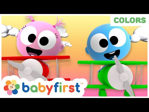 learning-colors-&-fruits-with-googoo-&-gaga-baby-|-flying-on-coloring-airplanes-for-kids-|-babyfirst