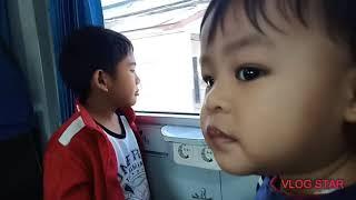 Naik kereta api tut tut tut | Rasyid naik kereta api gratis 17 Agustus 2019