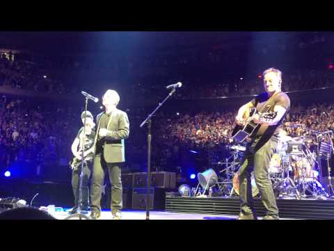 U2 encore with Bruce Springsteen 073115 @ MSG