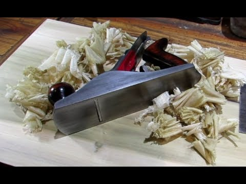 Flattening a board with a Dunlap No. 4 plane
