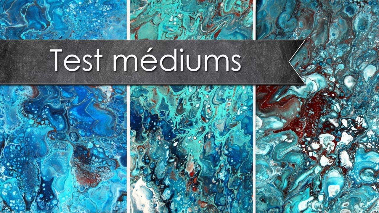 test comparatif acrylic pouring : cléocol, floetrol et médium ... - Difference Peinture Acrylique Et Vinylique