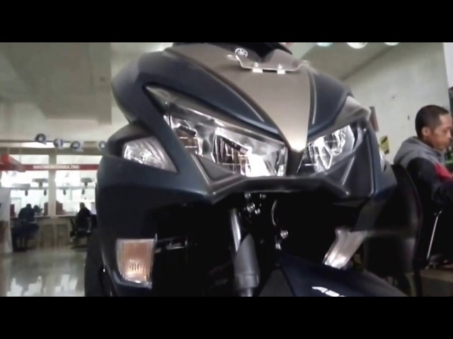 Yamaha aerox 155 VVA S version matte blue 2018