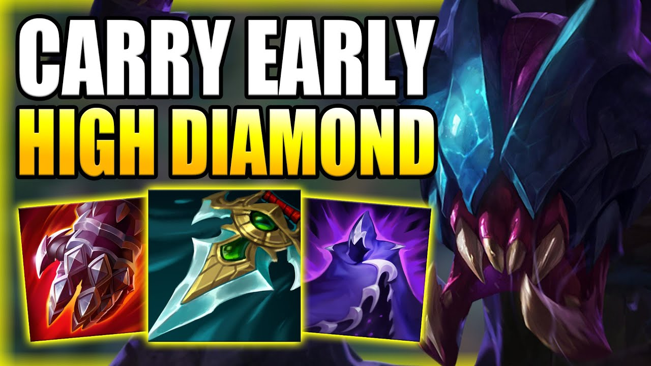 HOW TO PLAY REK'SAI JUNGLE & CARRY EARLY GAME IN HIGH DIAMOND! Best Build/Runes S+ League of Legends