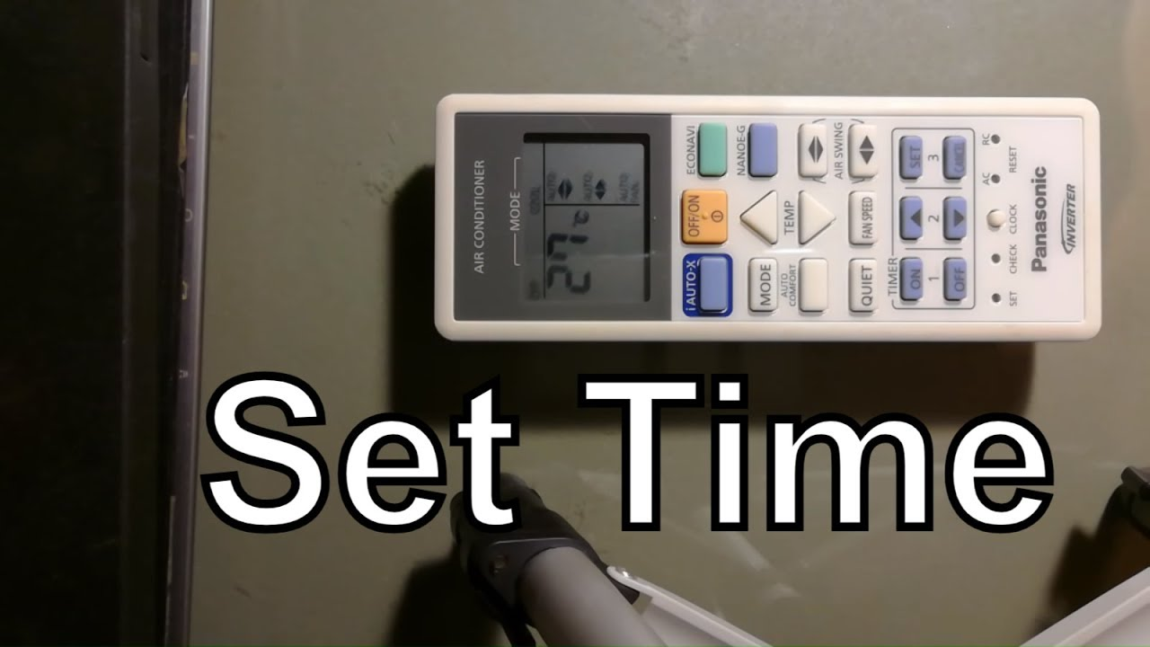 How to set time on Panasonic Remote Control Ductless Air Conditioner